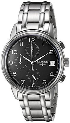 Men's Wrist Watches - ELYSEE Mens 80551S ClassicEdition Analog Display Quartz Silver Watch *** Click image to review more details. (This is an Amazon affiliate link)