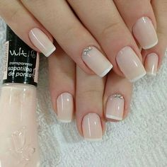 50 Awesome French Tip Nails to Bring Another Dimension to Your Manicure French tip nails are classic designs that have stood the test of time. The core idea of the French manicure is painting the tip of the nail in a color . Cute Nails, Pretty Nails, My Nails, Gel Nails French, French Manicures, French Nail Designs, Wedding Nails Design, Perfect Nails, Holiday Nails