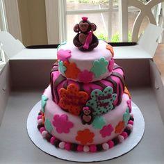 Natalie's 1st birthday cake!  Soo cute!