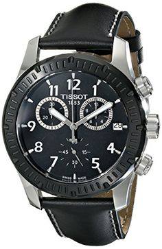Men's Wrist Watches - Tissot Mens T0394172605700 Analog Display Swiss Quartz Black Watch >>> More info could be found at the image url.