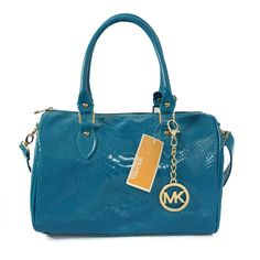 Michael Kors Embossed leather Medium Blue Satchels only $72.99