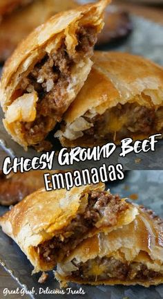 Bacon Recipes, Mexican Food Recipes, Appetizer Recipes, Appetizers, Cooking Recipes, Pizza Empanadas Recipe, Beef Empanadas, Cornish Pasty Recipe Ground Beef, Beef Dishes