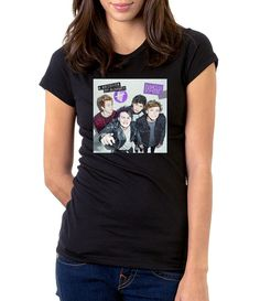 5SOS DONT STOP - Women - Shirt - Clothing - White, Black, Gray - @Dianov93
