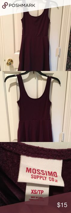 Mossimo Dress Worn once  Dark purple/burgundy  Skater Dresses Mini