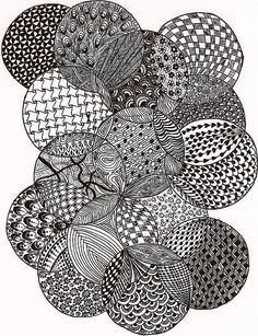 zentangle circles | As you can see with this design I did the same ...