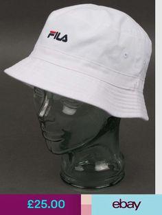 Fila Vintage Baxter Bucket Hat in White - festival hat 25e3e504efa1