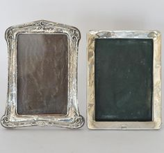 LOT 39: Two silver picture frames with scroll decoration. Est. £30 - £50. Coming up in our #Silver #Jewellery #Toys and #Railwayana #Auction on Thursday 25th May. To include #Watches #Collectables #Pictures #China & #Antique #Furniture #May25 #whittonsauctions #Honiton #pin
