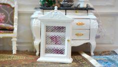 1:12 Scale Miniature,Gustavian style cupboard, Dollhouse, Rack, Furniture, Living room, Dining room, Boudoir