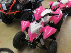 New 2016 Polaris Outlaw® 110 EFI ATVs For Sale in Florida. Pink Power Electronic Fuel Injected (EFI) 110 cc Engine Parent-adjustable speed limiter Includes safety flag, helmet, and instructional DVD