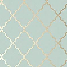 Home Interior Salas Klein Trellis - Metallic Gold on Aqua wallpaper from the Seraphina Wallpaper collection by Anna French.Home Interior Salas Klein Trellis - Metallic Gold on Aqua wallpaper from the Seraphina Wallpaper collection by Anna French Aqua Wallpaper, Wallpaper Backgrounds, Hallway Wallpaper, Metallic Wallpaper, Luxury Wallpaper, Wallpaper Online, Duck Egg Blue And Gold Wallpaper, Living Room Wallpaper Duck Egg, Custom Wallpaper