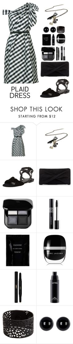 """""""Plaid Dress"""" by gicreazioni ❤ liked on Polyvore featuring Carolina Herrera, Rebecca Minkoff, Reiss, Christian Dior, Cleanse by Lauren Napier, Marc Jacobs, Yves Saint Laurent, MAC Cosmetics and Candela"""