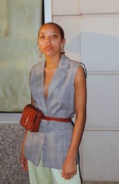 DAIS BELT BAG - CAMEL BROWN CROCO — VAVVOUNE VAVVOUNE The Things They Carried, Cow Leather, Camel, Wrap Dress, Shoulder Bag, Belt, Shirt Dress, Brown, Design Inspiration