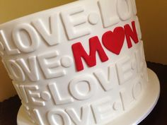 """""""Love"""" Engagement cake. This is very different I like it"""