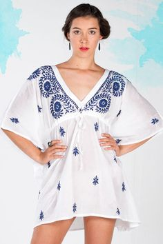 Mexicano Kaftan Style Beach Cover Up