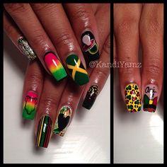 Rastah babyshower nails - @Kandi Rivera-Banks- #webstagram