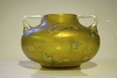 Fritz Heckert, two handled vase with Persian flower motif.