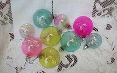 LOVE these!!! Vintage Set of 9 WWII Glass Tinsel Christmas by Sunflowermom, $27.00