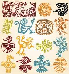simbologia cuatro elementos nahuatl - Buscar con Google