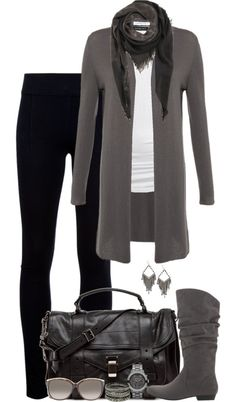 """Shades of Grey"" by partywithgatsby on Polyvore"