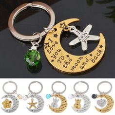 Fashion Keyring I Love You to The Moon and Back Pendant Keychain | eBay