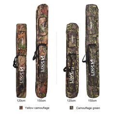 Fishing Rod Bag Two Layer Camouflage Long Fishing Tackle Rod Lures Bag Fishing Hand Shoulder Bags Multi-usage Features: Fishing Pole Storage, Fishing Rod Bag, Fishing Tackle Bags, Fishing Tips, Fish In A Bag, Oxford Fabric, Layers Design, Camouflage, Shoulder Bags
