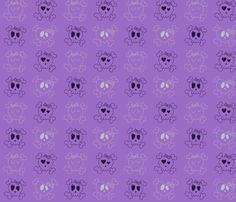 Purple Skulls fabric by jnifr on Spoonflower - custom fabric -For Laura?