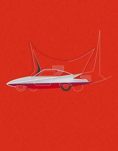Ghia Gilda Streamline X Coupé, 1955 x Enzo Venturelli, Church design, c. 1955