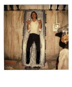 Han Solo (Harrison Ford), BTS, about to be released from the Carbonite