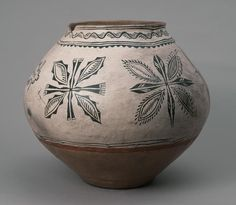 southwest ART deco | Polychrome storage jar, Tesuque Pueblo, circa 1870-1880.