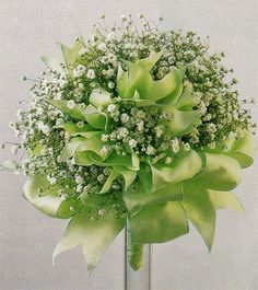 babies breath bouquet. Put ribbon in chelsies?? Orange Tiger Lillie's in this bouquet, ribbon in aqua.  Perfect for you.