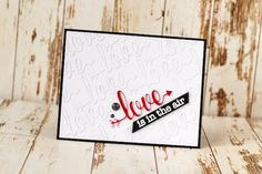 Inspired by Stamping, Julia Akinina, Love Sentiment Die, Love Sentiments stamp set, Valentine's Day Card