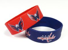 Washington Capitals Bracelets - 2 Pack Wide