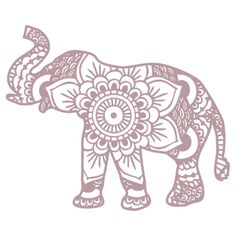 Mandala Elephant stickers featuring millions of original designs created by independent artists. Elephant Tattoo Design, Elephant Design, Elephant Tattoos, Elephant Drawings, Mandala Elephant Tattoo, Henna Elephant, Wall Mandala, Elefante Tattoo, Elefante Hindu