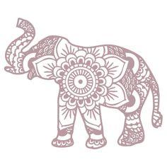 Mandala Elephant Lilac by laurauroraa