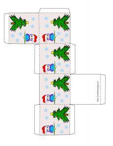 Free printable Christmas favor box