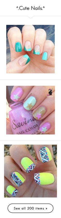 """^.Cute Nails.^"" by chrissyglam20 ❤ liked on Polyvore featuring nails, cute, art, beauty products, nail care, nail treatments, unha, makeup, beauty and nail polish"