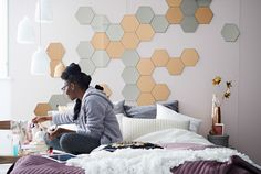 Hexagon Mirror Wall Stickers - Turn plain old boring walls and furniture into spectacular artful masterpieces with these Hexagon Mirror Wall Stickers.