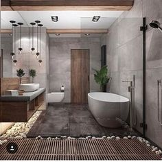 """Browse photos of Small Bathroom Tile Design. Find suggestions and inspiration for Small Bathroom Tile Design to enhance your house. Contemporary Interior Design, Modern Bathroom Design, Bathroom Interior Design, Bath Design, Spa Design, Interior Modern, Minimal Bathroom, Contemporary Bathrooms, Tile Design"