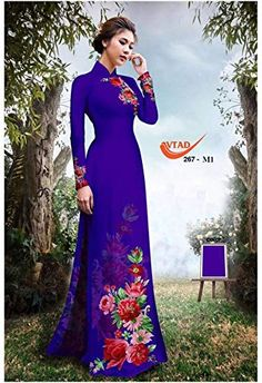 Silk 3D Traditional Vietnamese Long Dress Collections with Pants All Size ADVN00473 Ao Dai