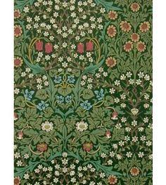 Beställ Blackthorn blå/grön/turkos tapet från William Morris®