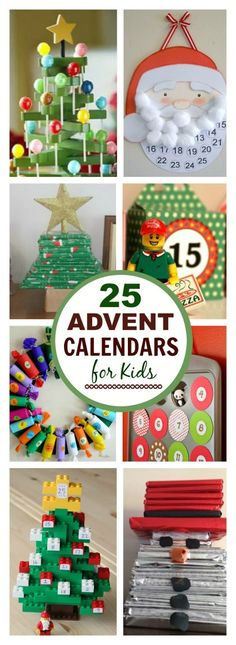 25 AMAZING DIY ADVENT CALENDARS FOR KIDS- these are so fun! Extend the fun of gift giving and make an advent calendar this holiday. Here are 25 super fun Christmas advent calendars that you can make with your ki… Advent Calendar Gifts, Advent Calendars For Kids, Christmas Calendar, Diy Calendar, Christmas Countdown, Childrens Advent Calendar, Advent For Kids, Christmas Crafts For Kids, Christmas Projects