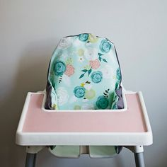 Summer Blooms // IKEA Antilop Highchair Cover // by YeahBabyGoods