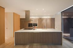 House Pieres Interior under Kitchen Island Design Among Modern Decoration Used Wooden Material under Beige Color Style as Home Inspiration To Your House