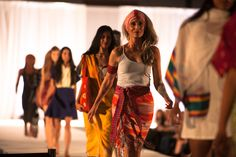 Textiles from countries where Whole Planet Foundation funds microcredit were featured on the runway during the Beauty in All Beings fashion show at Expo West  (Photo Credit: Anthony Tamayo) #WholePlanet