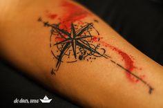 desenho rosa dos ventos para tatuagem - Pesquisa Google