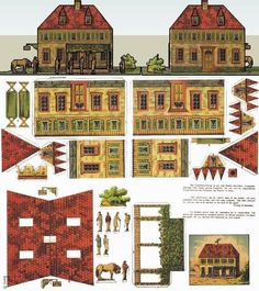 Das Gasthaus - The Inn - A German Vintage Paper Model by Unknown