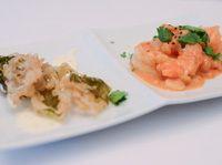 Grosses crevettes szechuan et basilic tempura Presque Parfait, V Max, Shrimp, Appetizers, Meat, Food, Basil, Recipes, Appetizer