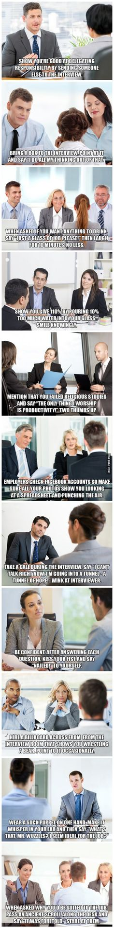 12 Tips to help you Succeed at Job Interviews