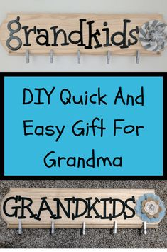 DIY: Quick And Easy Gift For Grandma gifts for grandma DIY Christmas Gift For Grandma - Picture Holder of Grandkids Diy Gifts For Grandma, Diy Gifts To Sell, Diy Gifts Cheap, Presents For Grandma, Christmas Gifts For Grandma, Diy Gifts For Kids, Grandmother Gifts, Homemade Christmas Gifts, Easy Gifts