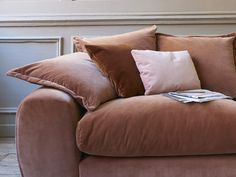 """If this sofa were a cake, it would be one where only whopping great slices would be allowed. None of that """"Just a tiny bit"""" malarkey. Cosy Home Decor, Modular Sofa, Slow Living, Autumn Home, Curtains, Throw Pillows, Bed, Cake, Collection"""